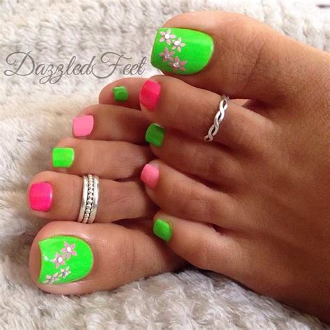 spring pedicure product ideas 31 easy pedicure designs for spring pink toe nails pink