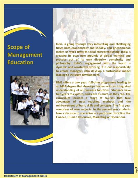 Scope Of Mba In Design Management by Mnit Dms Brochure2012