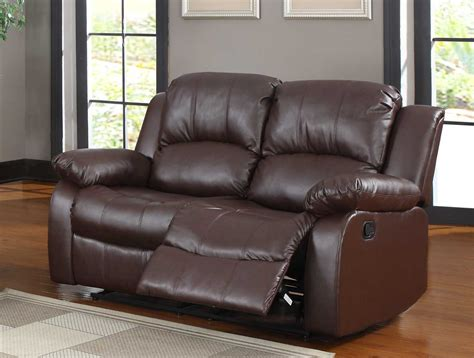 bonded leather recliner sofa homelegance cranley reclining sofa set brown bonded