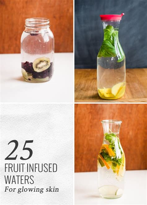Detox Fruit Water For Skin by 25 Fruit Infused Waters For Glowing Skin Drinks