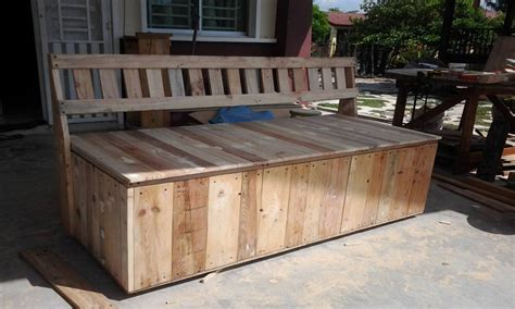 outdoor bench pallet outdoor bench with storage box