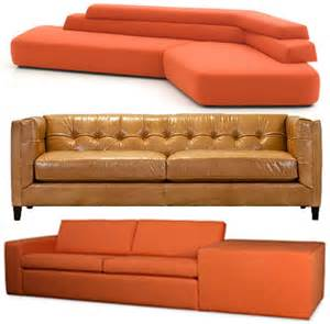 3 orange ish couches design trend report 2modern