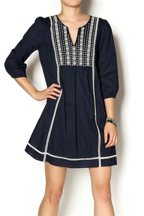 L A Tunic Navy illa illa navy blue tunic dress from connecticut by a s