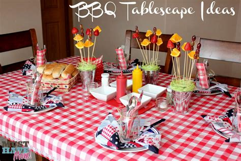 Rustic Tablescapes outdoor bbq party decoration ideas decorating of party