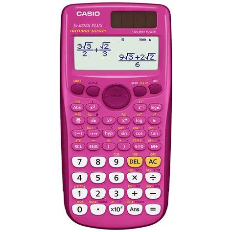 calculator online casio casio fx 300es plus scientific calculator in pink