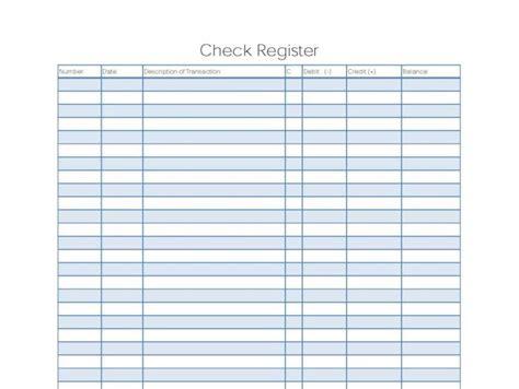 9 Excel Checkbook Register Templates Excel Templates Checkbook Log Template