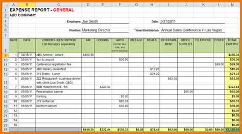 sle expense report excel sle expense reports 28 images sle expense