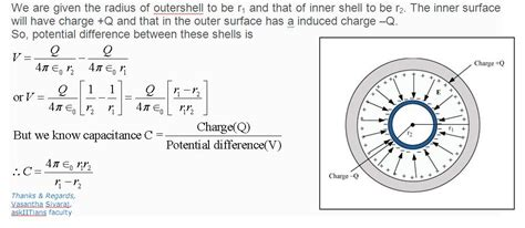 a spherical capacitor consists of two concentric electrostatics a spherical capacitor consists of two concentric askiitians