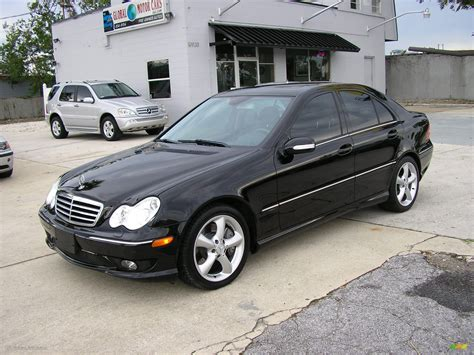 2005 Black Mercedes C 230 Kompressor Sedan 286623