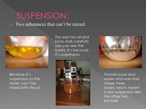 Examples Of Suspension Chemistry