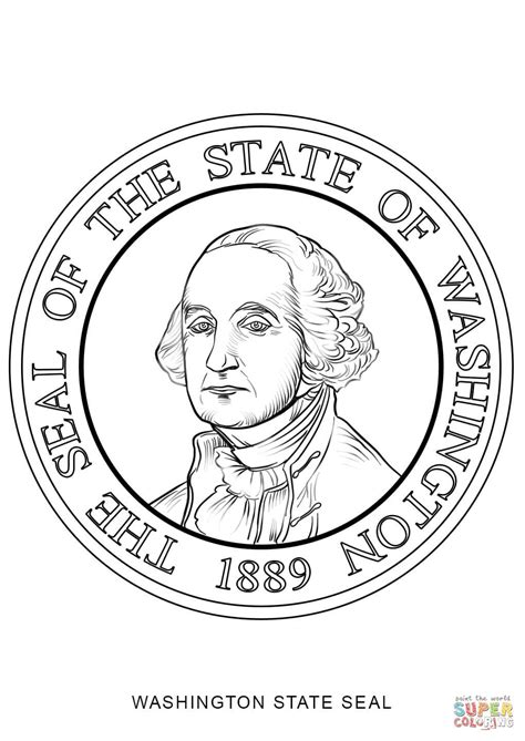 washington state seal coloring page free printable