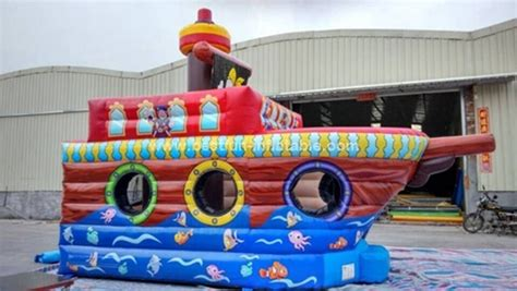 inflatable boat house inflatable pirate boat bounce house ship bouncer for kids manufacturer supplier