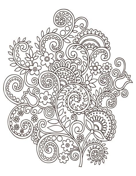 fleurs doodle coloriage anti stress gratuit artherapie ca
