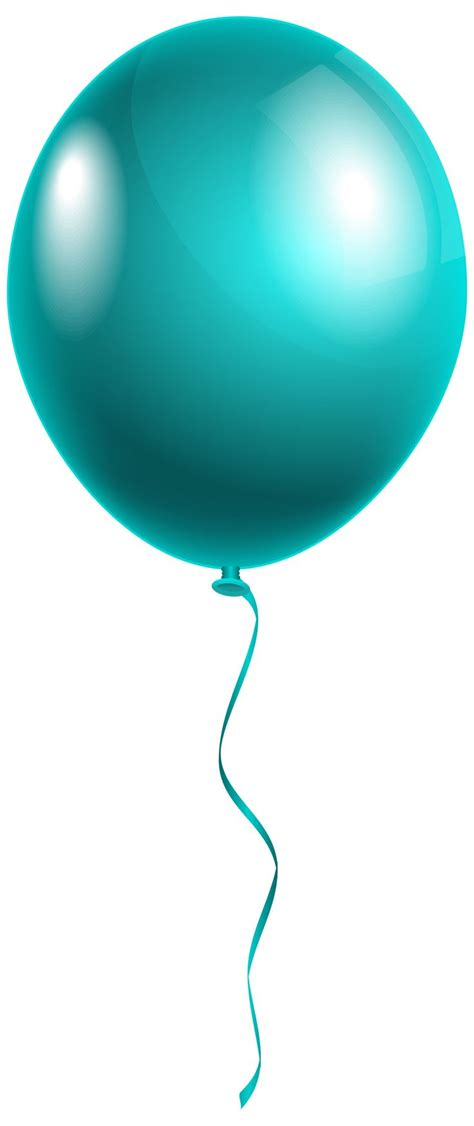 single modern blue balloon png clipart image gallery
