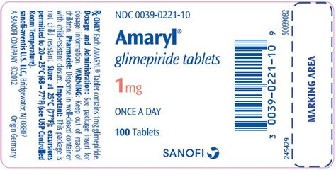 Glimepiride 2 Mg Isi 10 amaryl fda prescribing information side effects and uses