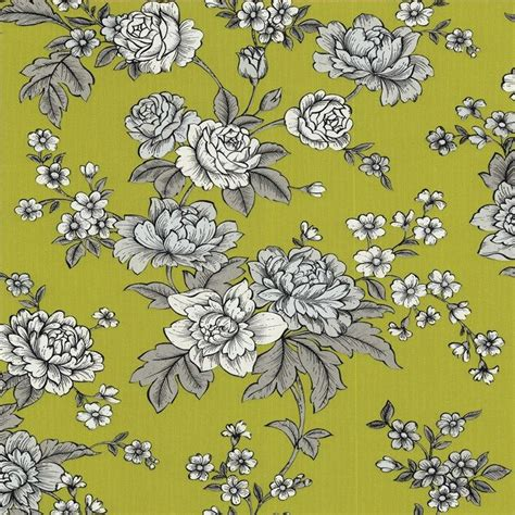kensington wallpaper grey kensington floral wallpaper yellow flower wall coverings