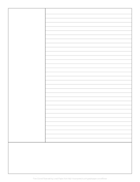 best note taking template 9 best images of cornell note taking template word