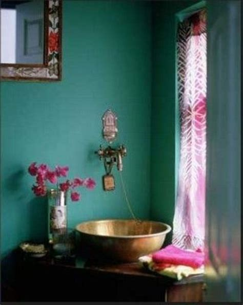 boho bathroom decor teal fuschia bathroom home interior bath ideas