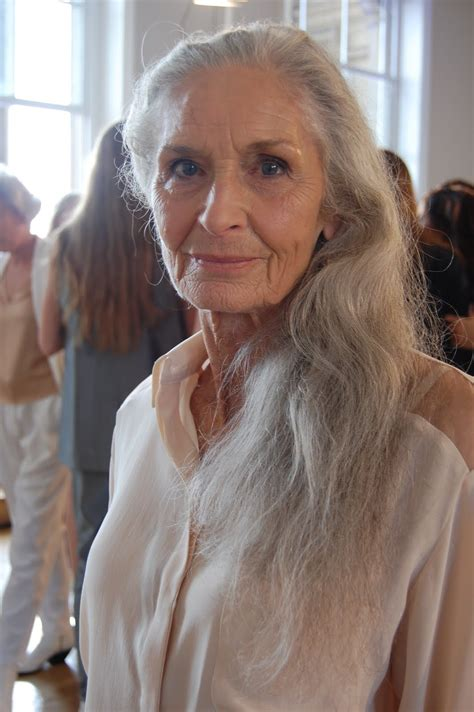 80 year old women long hair daphne selfe image