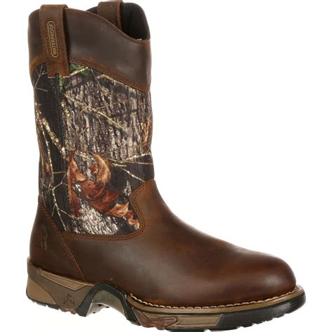pull on boots rocky aztec waterproof mobu pull on boots style 2871