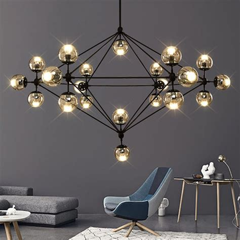 clear glass pendant light living room contemporary with aliexpress com buy 21 heads modern glass chandeliers