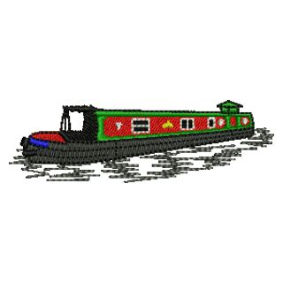 canal boat line drawing canal barge clipart