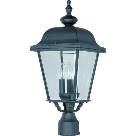 Patio Pole Lights Maxim Lighting Westlake 1 Light Black Outdoor Pole Post Mount 1001bk The Home Depot