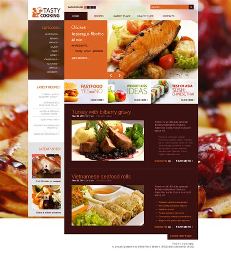 themes wordpress recipes 10 delicious food and drink wordpress themes web3mantra
