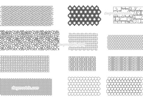 stone pattern cad block seamless texture of stone cad blocks free dwg file