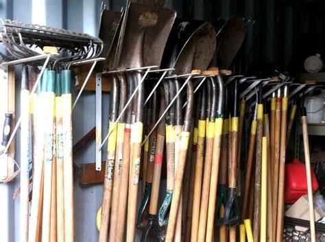 Garden Tool Storage Ideas by 25 Best Ideas About Garden Tool Storage On