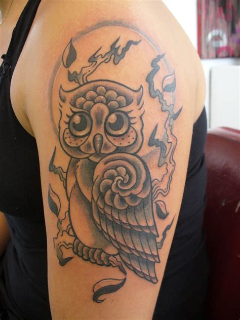 owl shoulder tattoo owl tattoos designs ideas and meaning tattoos for you