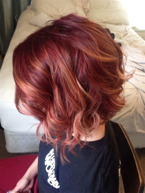hair cuts with red colour 2015 20 coupes et couleurs cheveux magnifiques sign 233 es 2015