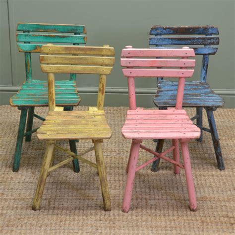 vintage furniture cute set of four vintage painted country antique children