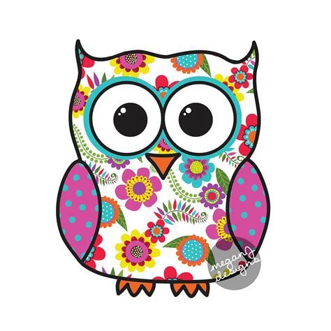 Colorfull Owl colorful floral owl car decal sticker owl bumper sticker