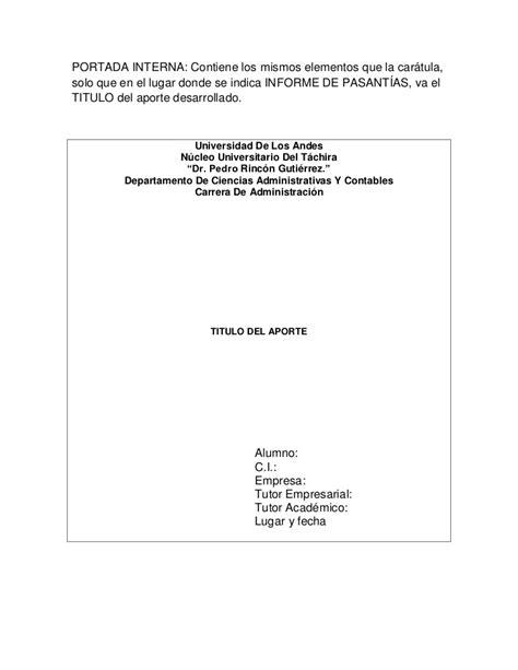 imagenes de caratulas para los informes normas del informe