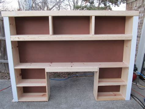 custom built in desk and shelving unit