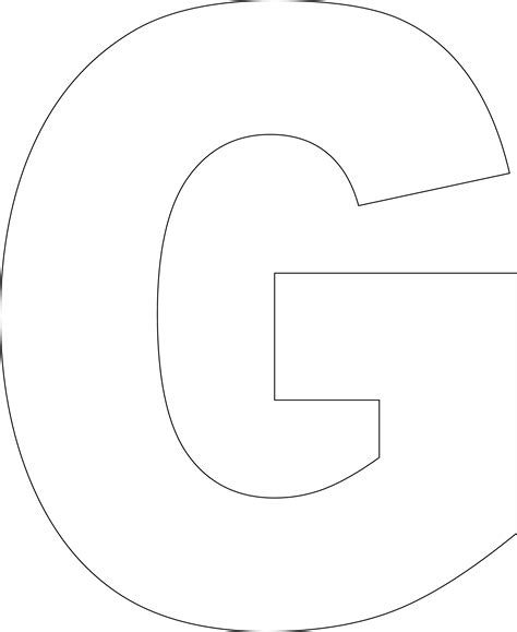printable letter template for 6 best images of large printable alphabet letter g