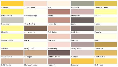 paint colors lowes home depot yellow exterior paint swatch palette