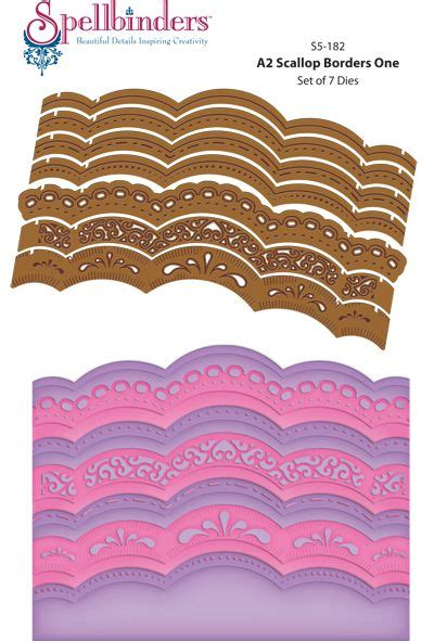 A2 Scallop Card Template Staples by 128 Best Images About Spellbinders Card Creator On
