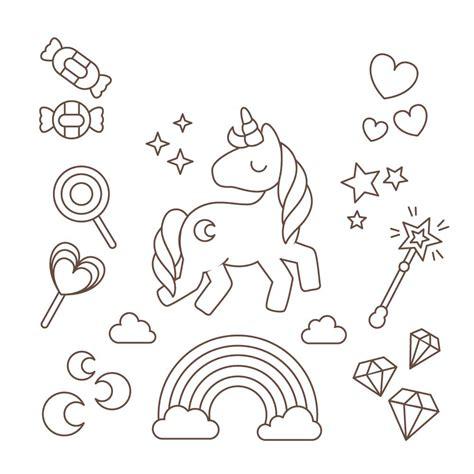 imagenes de unicornios tiernos para colorear unicornio de dibujo los mas bonitos para colorear y
