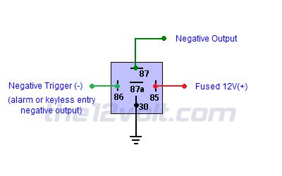 neg relay wiring diagram 24 wiring diagram images