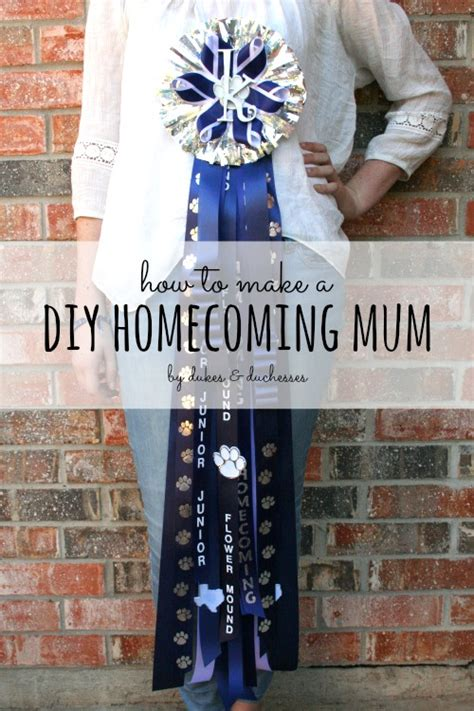 how to make a diy homecoming mum dukes and duchesses