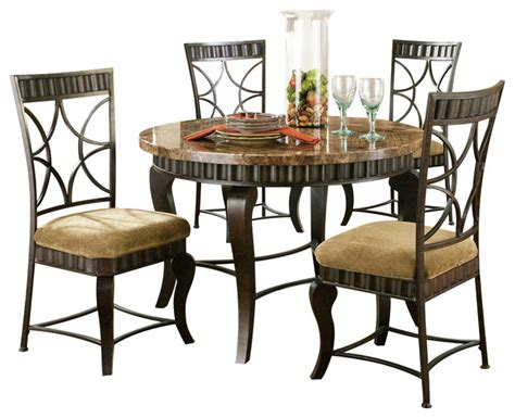 Dining Room Sets 5 by Steve Silver Hamlyn 5 Dining Room Set With Marble