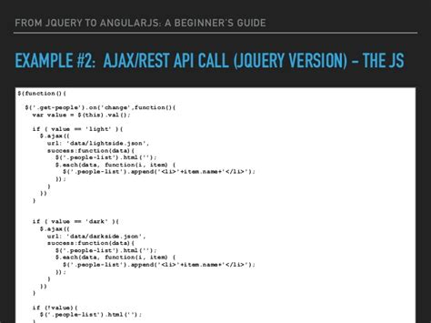 tutorial jquery api from jquery to angularjs a beginner s guide