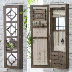 Lighted Jewelry Armoire Belham Living Lighted Locking Quatrefoil Wall Mount