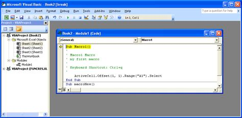 tutorial visual basic microsoft excel excel debug a macro using step mode