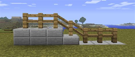 How To Make A Banister For Stairs Slanting Fences On Half Blocks Suggestions Minecraft