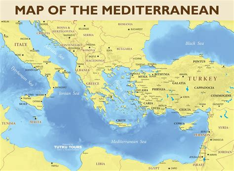 map of mediterranean tutku tours mediterranean maps map of the eastern