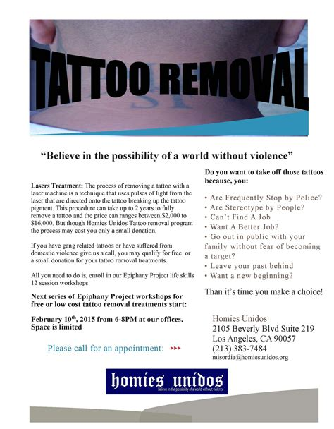 tattoo removal programs homies unidos 187 removal