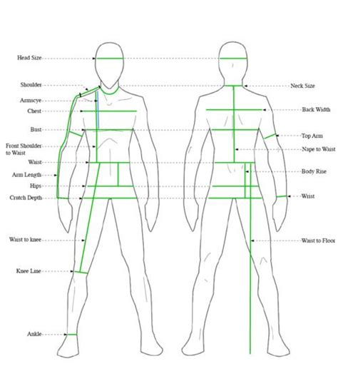Template Body Measurements For Knitting Google Search Crochet Projects Pinterest Suit Measurements Template